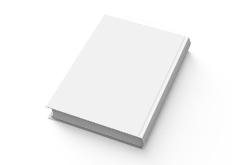 白色背景隔离下的空白书籍封面设计