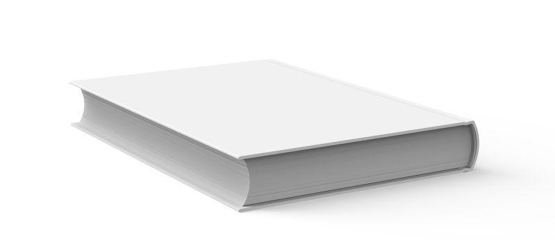 白色背景下的空白封面书籍
