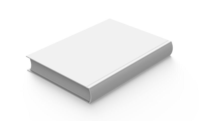 白色背景下的空白硬封面书