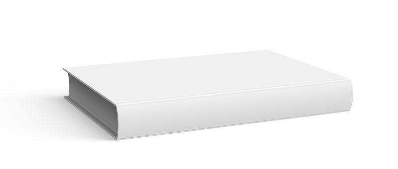 白色背景下的空白书籍封面设计