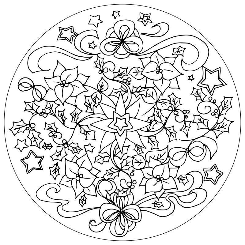 黑白背景的曼荼罗装饰