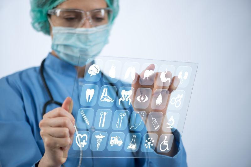 女医生使用医用图标