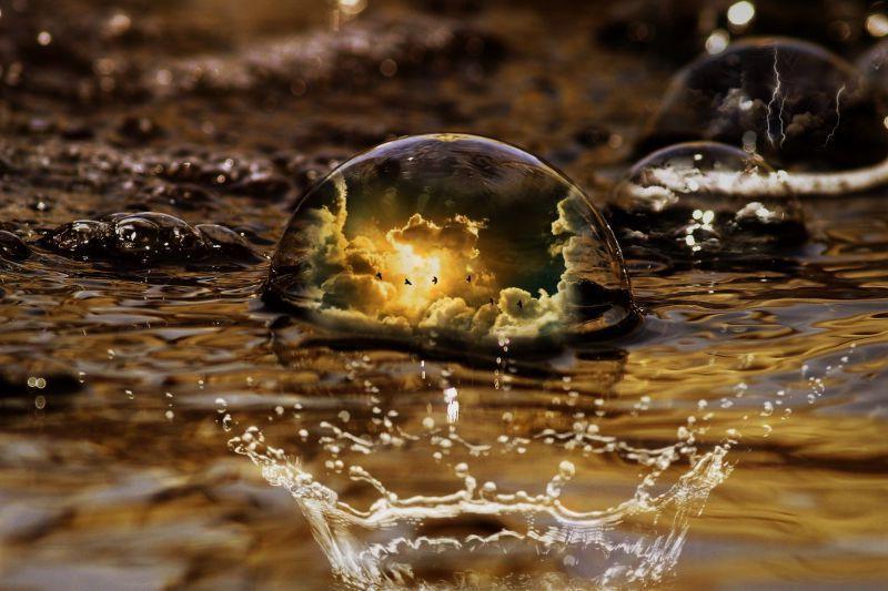 地面上的水滴