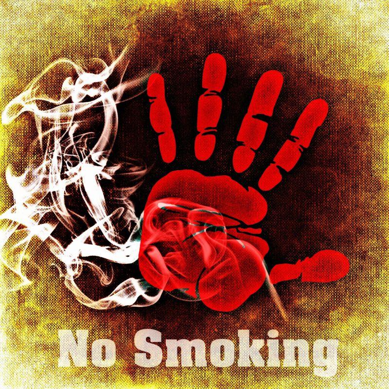 室内禁止吸烟的手印