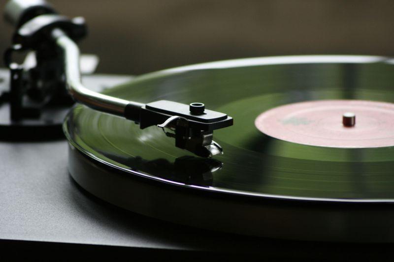 正在运行的复古唱片