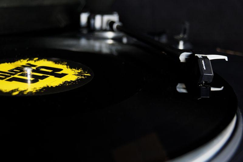黑色复古的唱片