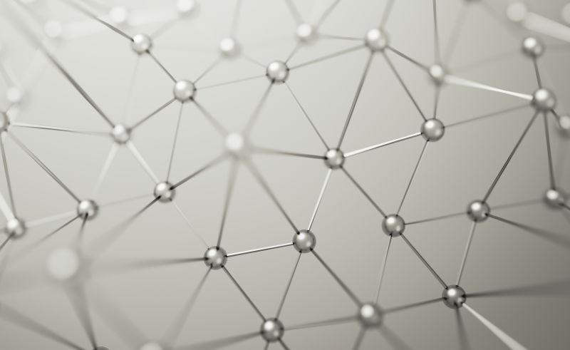 具有正方形的黑色未来曲面的三维渲染