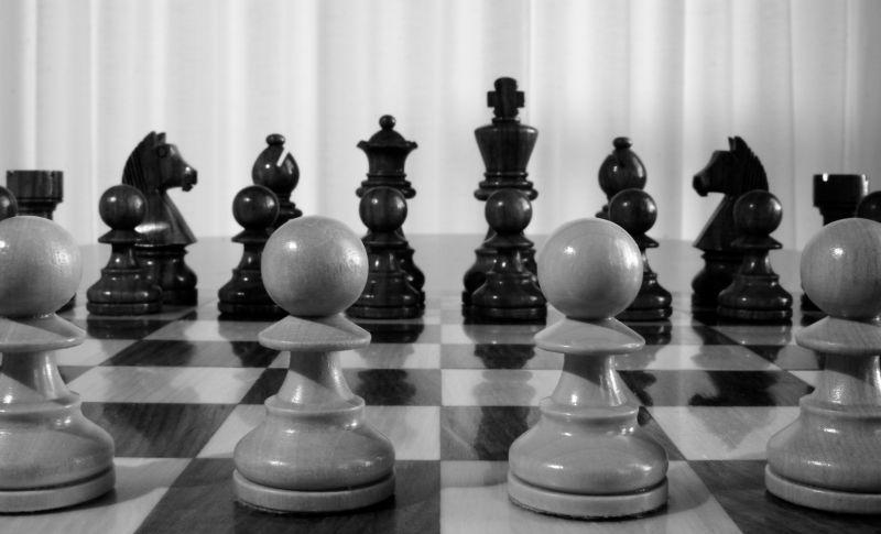 国际象棋棋子近景