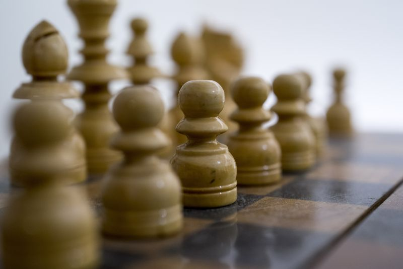 木制国际象棋近景