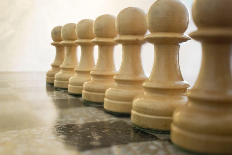 木制国际象棋棋子