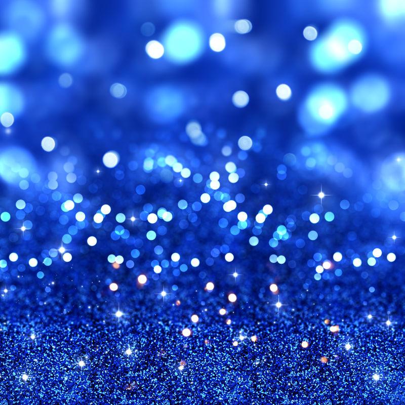 靛蓝色的弥红灯效果
