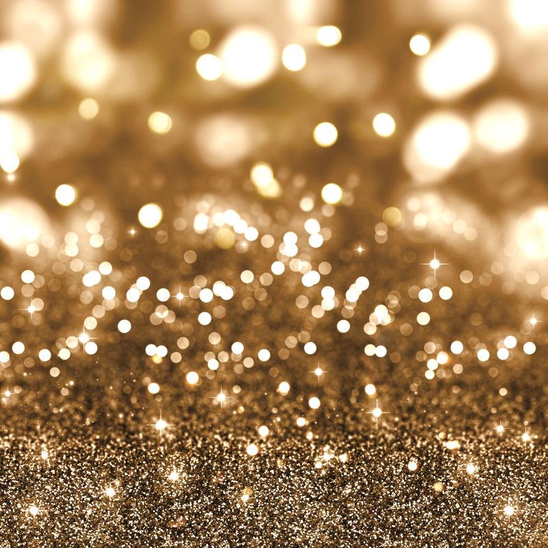金色闪亮的圣诞背景