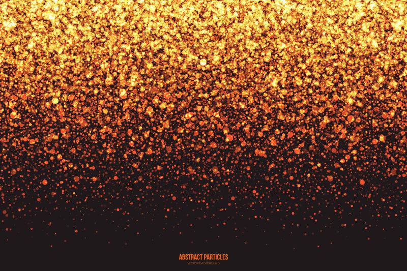 矢量的金色闪光粒子背景