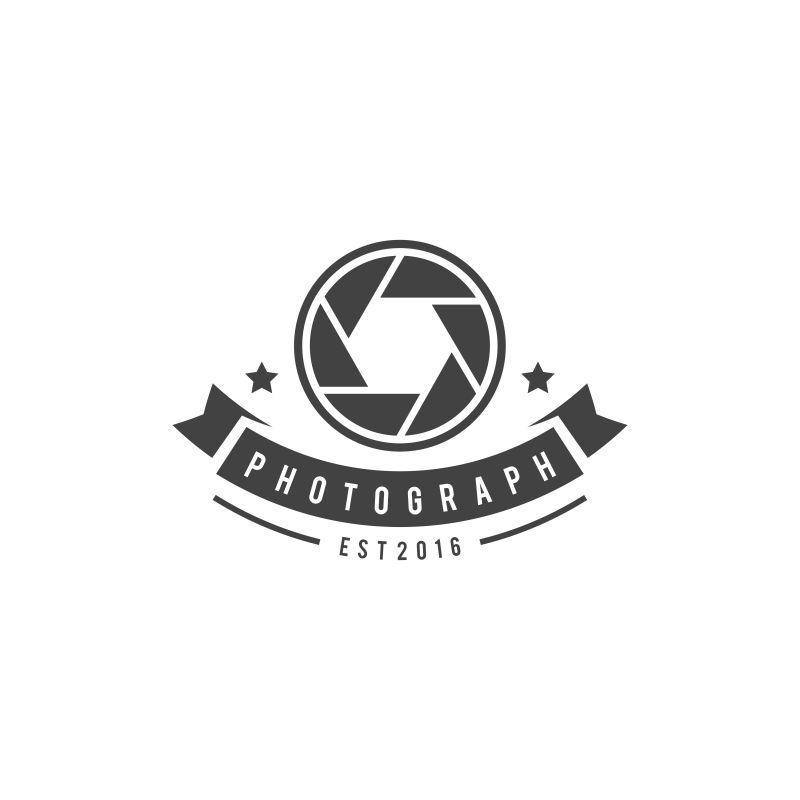 矢量的摄影徽章