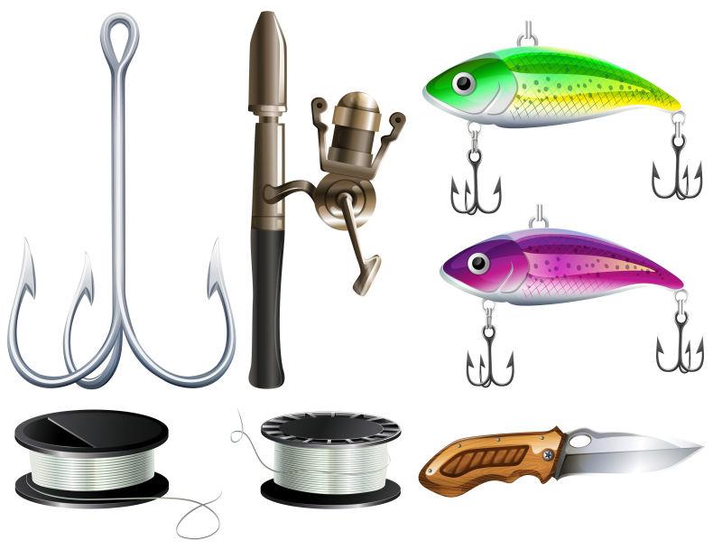 矢量的立体感渔具