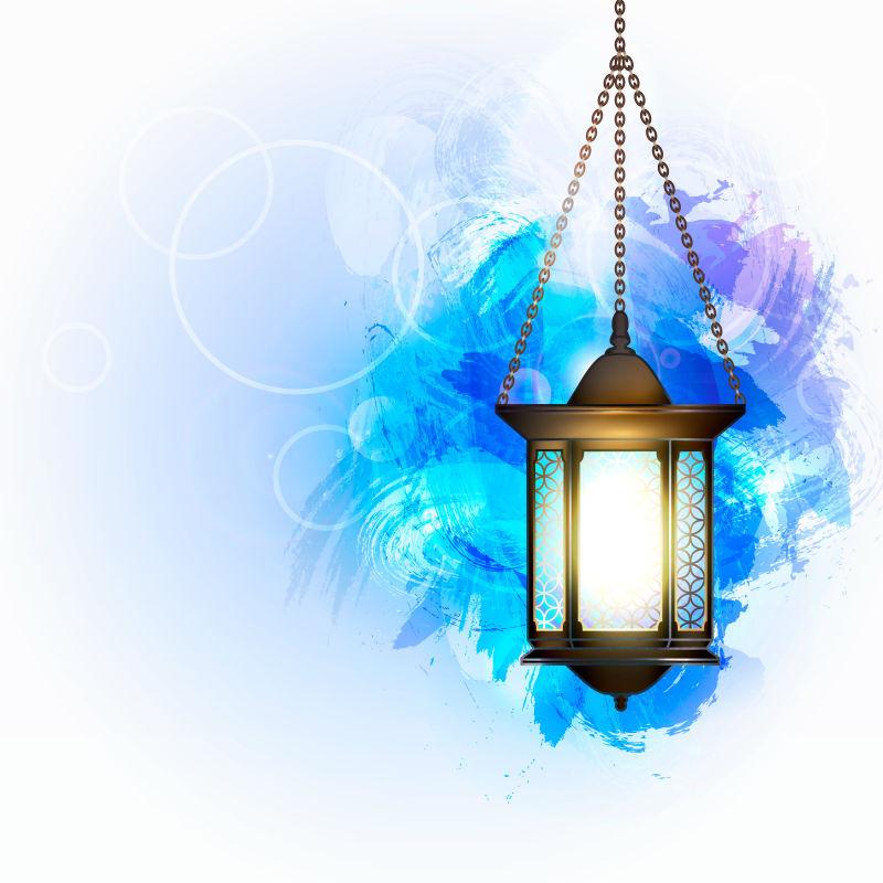 矢量的斋月卡里姆灯笼