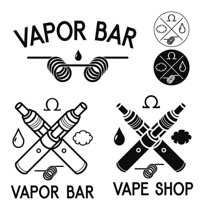 矢量的电子烟主题插图