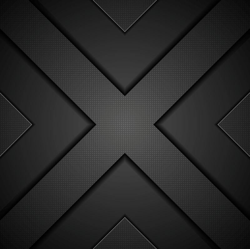 黑色十字图案的矢量背景