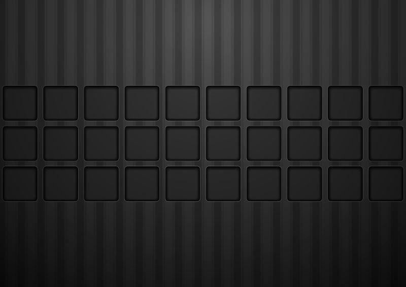 黑色矩形图案的概念技术矢量背景