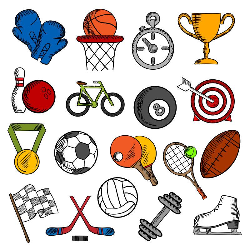 矢量的运动健身主题插图