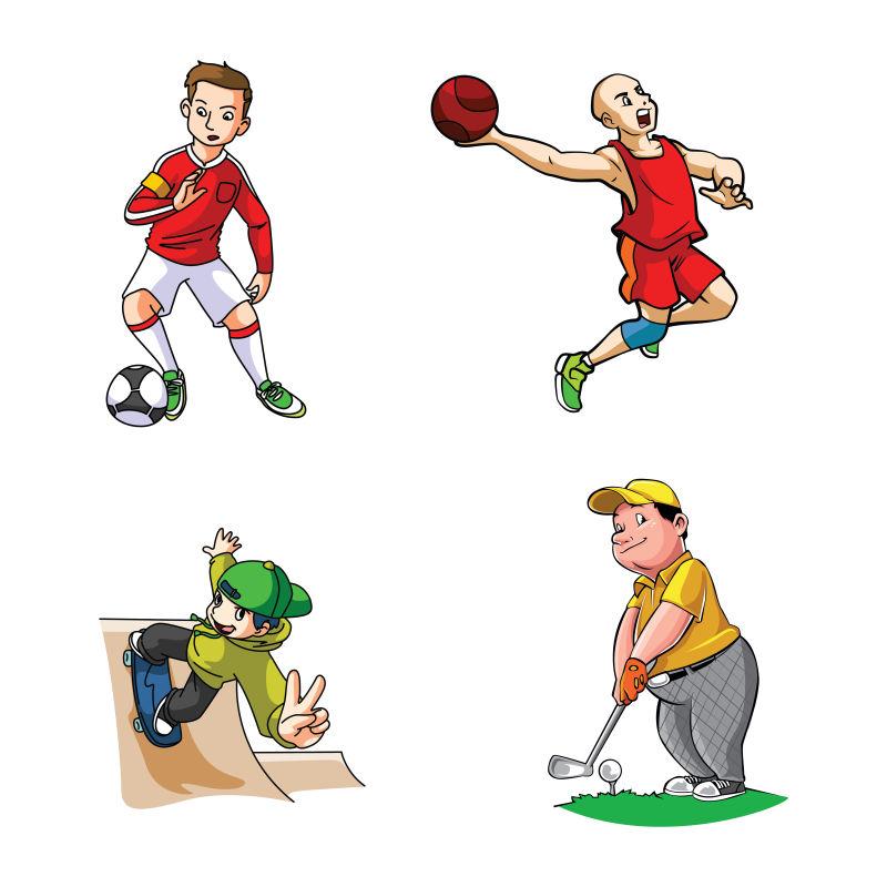 矢量的体育运动插图