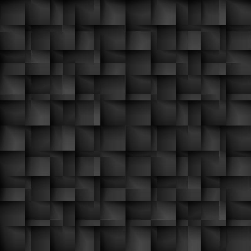 黑色细胞形态的无缝纹理