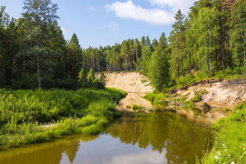 俄罗斯Novosibirsk州西伯利亚Karakan河