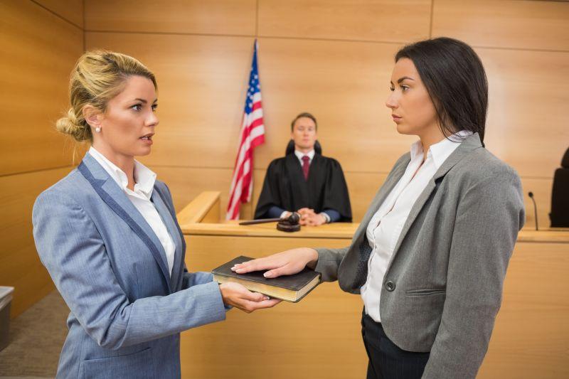 正在宣誓的证人
