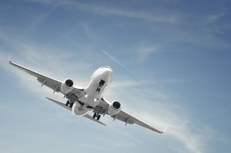 飞机在空中飞行