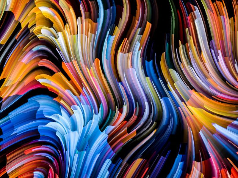 抽象彩色艺术纹理背景