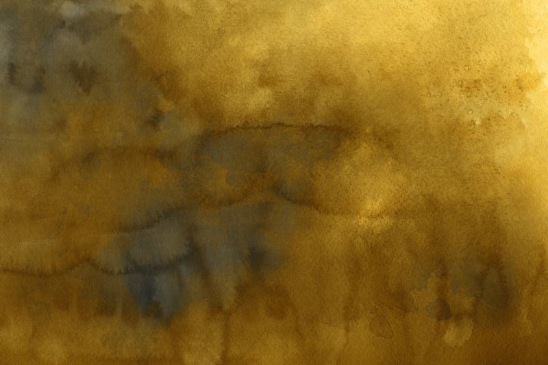 金黄色水彩墨