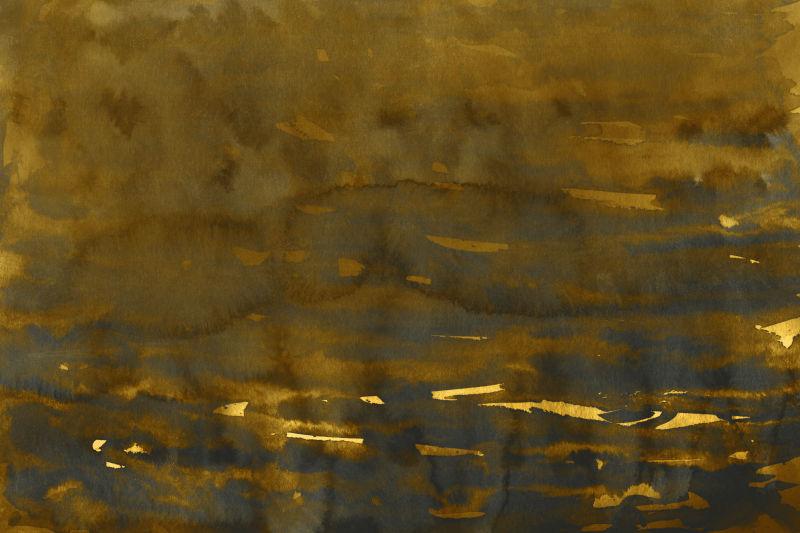 金黄色水彩抽象背景