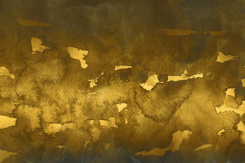 金黄色水墨