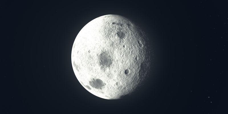 黑色背景前的月亮