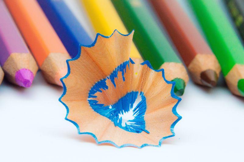 被削下的完整铅笔屑