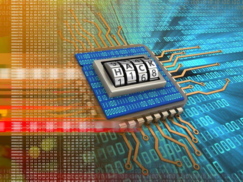 数字背景下的电子板三维代码插图