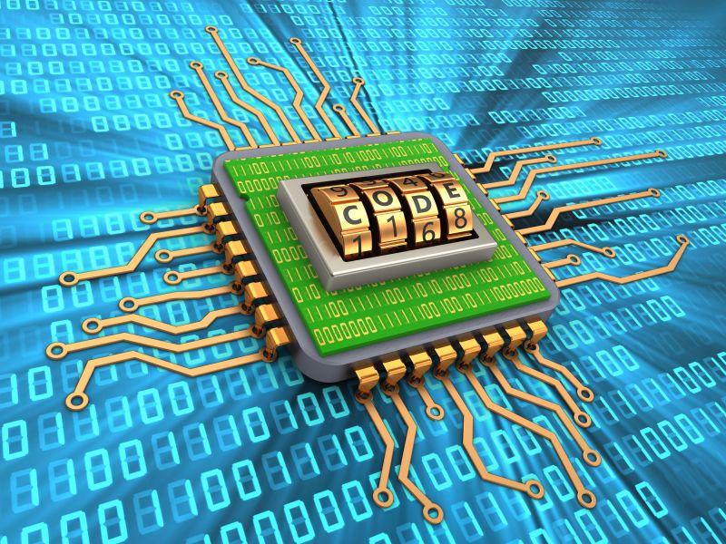 带有代码拨号和内部代码的微芯片
