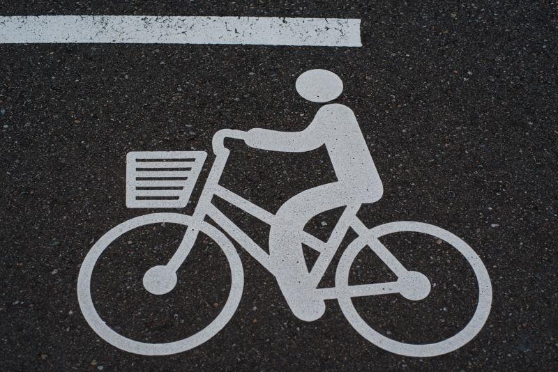自行车车道标志