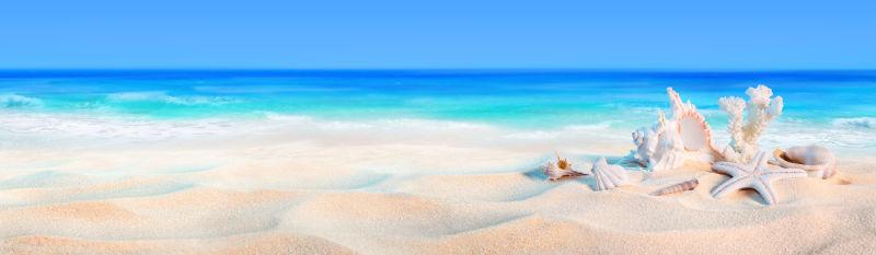 沙滩大海风景图