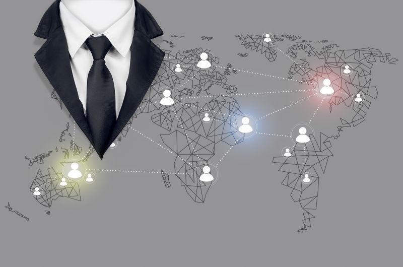 互联网在商务中的连接应用概念