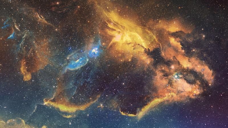 美丽的星云背景