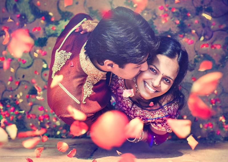 印度新婚夫妇