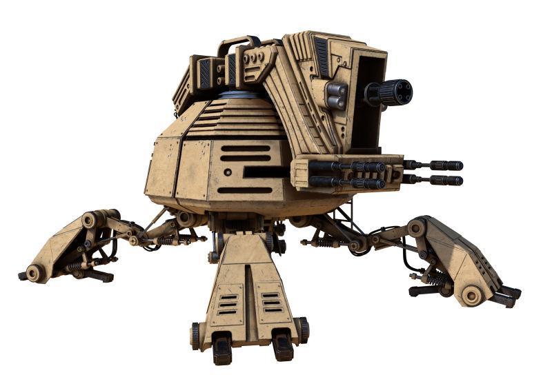 白色背景下的机器人设计