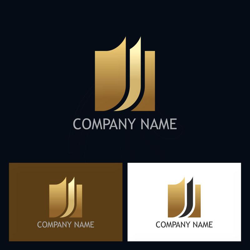 创意矢量几何字母j的标志设计