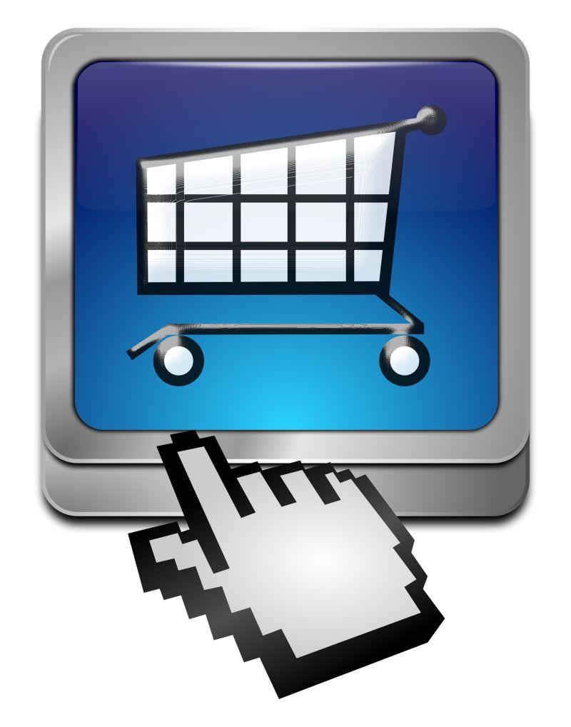 创意矢量网络购物图标
