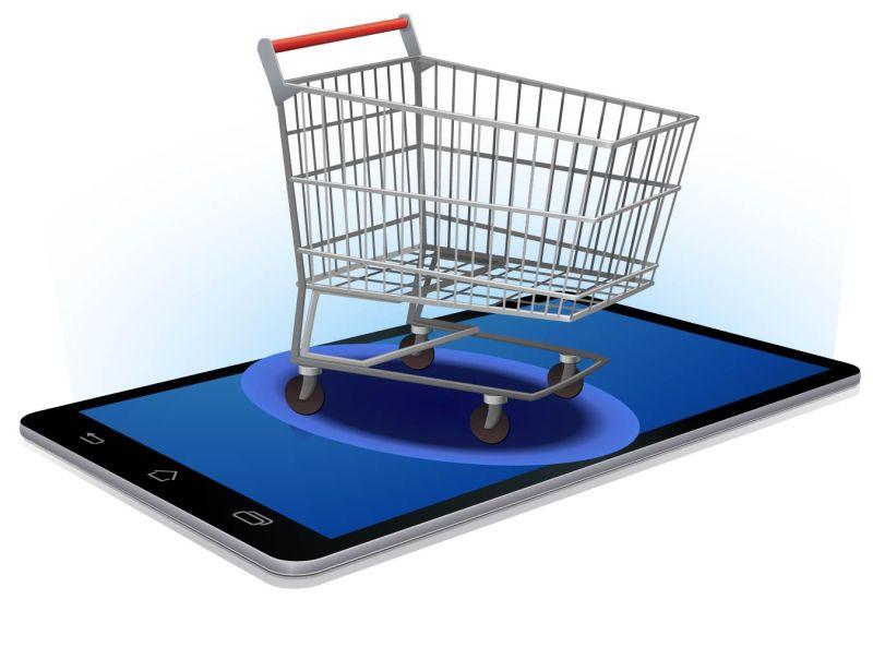 矢量移动设备网络购买的图标插图