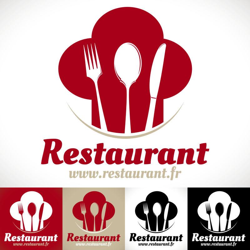 创意矢量餐厅创意标志设计