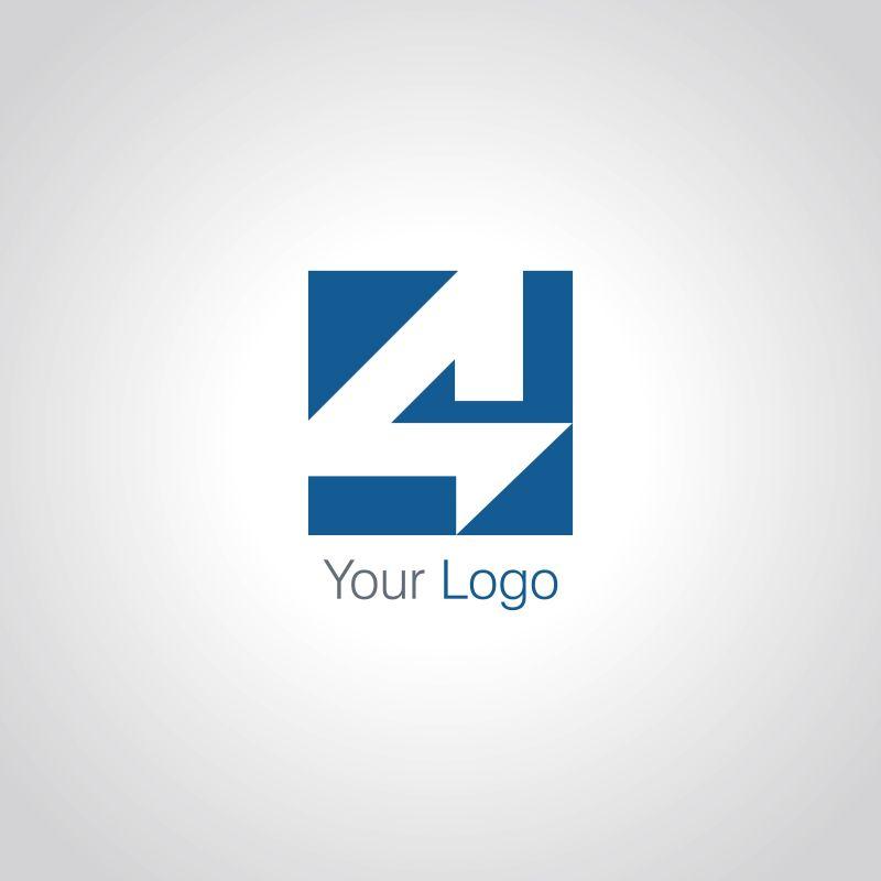 创意矢量方形字母的标志设计