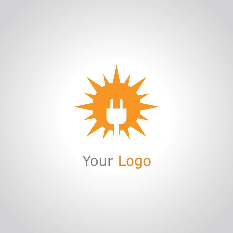 矢量太阳能概念标志设计