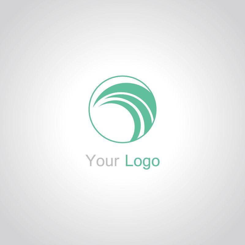 创意矢量圆形旋涡抽象标志设计